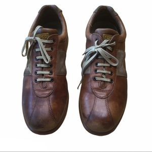 Men's camper two tone brown casual leather shoes